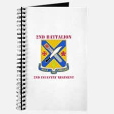 DUI - 2nd Bn - 2nd Infantry Regt with Text Journal