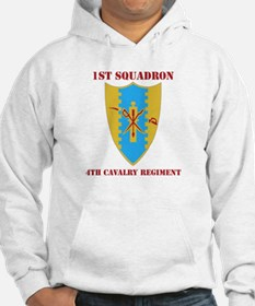 DUI - 1st Sqdrn - 4th Cavalry Regt with Text Hoode
