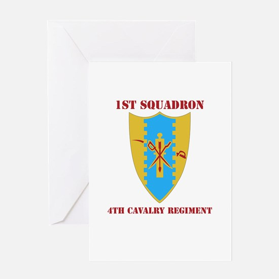 DUI - 1st Sqdrn - 4th Cavalry Regt with Text Greet