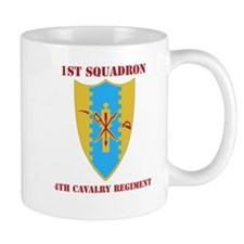 DUI - 1st Sqdrn - 4th Cavalry Regt with Text Mug