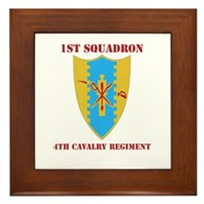 DUI - 1st Sqdrn - 4th Cavalry Regt with Text Frame