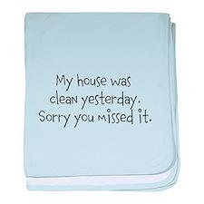 Clean House baby blanket