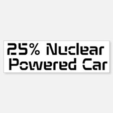 Nuclear Powered Car Bumper Bumper Sticker