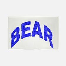 BEAR BLUE MOASIAC LETTERS Rectangle Magnet