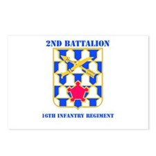 DUI - 2nd Bn - 16th Infantry Regt with Text Postca