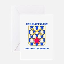 DUI - 2nd Bn - 16th Infantry Regt with Text Greeti