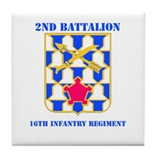 DUI - 2nd Bn - 16th Infantry Regt with Text Tile C