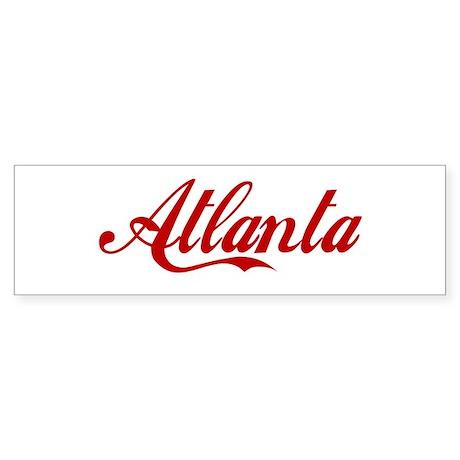 ATLANTA SCRIPT Bumper Sticker