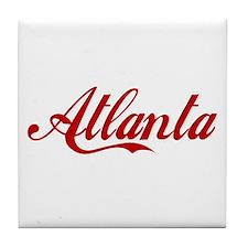 ATLANTA SCRIPT Tile Coaster