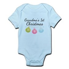 Grandma's 1st Christmas Infant Bodysuit