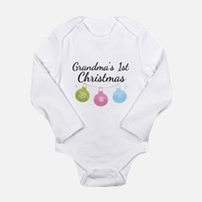Grandma's 1st Christmas Long Sleeve Infant Bodysui