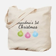 Grandma's 1st Christmas Tote Bag