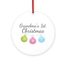 Grandma's 1st Christmas Ornament (Round)