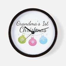 Grandma's 1st Christmas Wall Clock