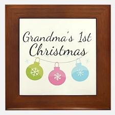 Grandma's 1st Christmas Framed Tile
