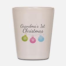 Grandma's 1st Christmas Shot Glass