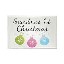 Grandma's 1st Christmas Rectangle Magnet