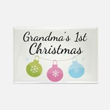 Grandma's 1st Christmas Rectangle Magnet