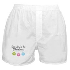Grandma's 1st Christmas Boxer Shorts