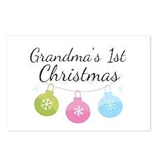 Grandma's 1st Christmas Postcards (Package of 8)