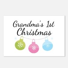 Grandma's 1st Christmas Postcards (Package of 8)