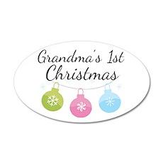 Grandma's 1st Christmas 22x14 Oval Wall Peel