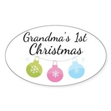 Grandma's 1st Christmas Decal