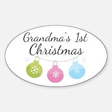 Grandma's 1st Christmas Decal