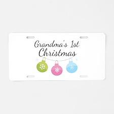 Grandma's 1st Christmas Aluminum License Plate