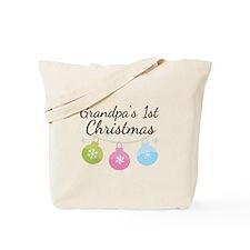 Grandpa's 1st Christmas Tote Bag