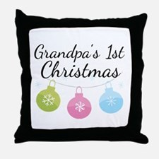 Grandpa's 1st Christmas Throw Pillow