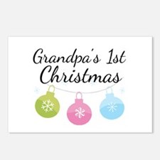 Grandpa's 1st Christmas Postcards (Package of 8)