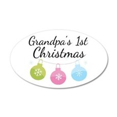 Grandpa's 1st Christmas 22x14 Oval Wall Peel