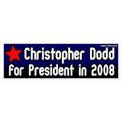 Christopher Dodd for President Bumper Bumper Sticker
