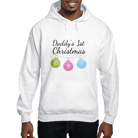 Daddy's 1st Christmas Hooded Sweatshirt