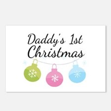 Daddy's 1st Christmas Postcards (Package of 8)