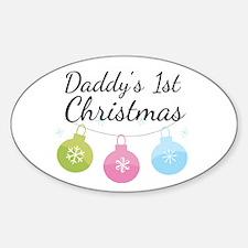 Daddy's 1st Christmas Sticker (Oval)