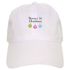 Mommy's 1st Christmas Baseball Cap