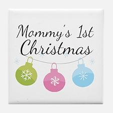 Mommy's 1st Christmas Tile Coaster