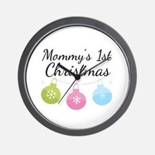 Mommy's 1st Christmas Wall Clock