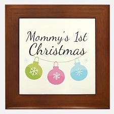 Mommy's 1st Christmas Framed Tile