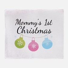 Mommy's 1st Christmas Throw Blanket