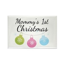 Mommy's 1st Christmas Rectangle Magnet