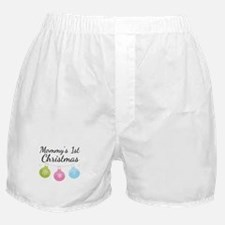 Mommy's 1st Christmas Boxer Shorts