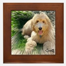 Goldendoodle Framed Tile