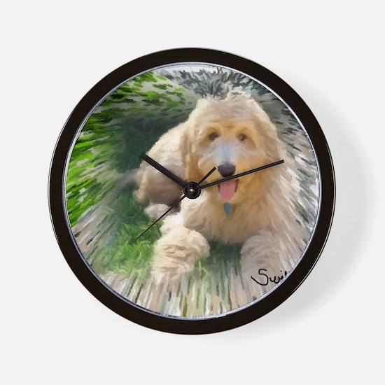 Goldendoodle Wall Clock