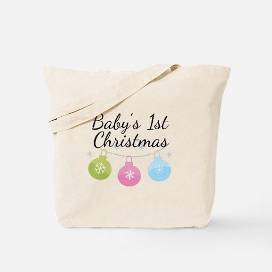 Baby's 1st Christmas Tote Bag