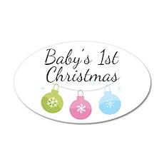 Baby's 1st Christmas 22x14 Oval Wall Peel