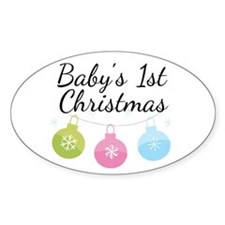 Baby's 1st Christmas Decal