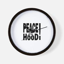 PEACE IN THE HOOD Wall Clock